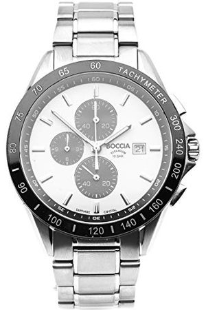 Boccia Męski chronograf kwarcowy zegarek z tytanowym paskiem 3751-03