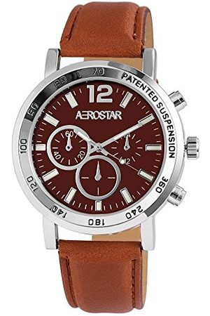 Aerostar Męski analogowy zegarek kwarcowy z imitacji skóry 21102760001