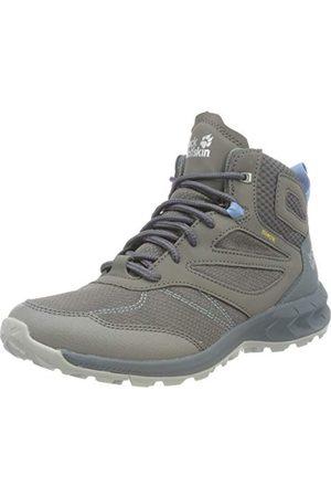 Jack Wolfskin Damskie buty trekkingowe Woodland Texapore Mid W, Grey Light Blue - 35.5 eu
