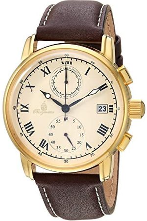 Burgmeister Męski chronograf kwarcowy zegarek ze skórzanym paskiem BM334-295