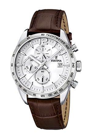Festina Męski zegarek na rękę analogowy kwarcowy skóra F16760-1