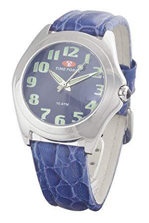 Time Force Męski analogowy zegarek kwarcowy ze skórzanym paskiem TF1377J-05