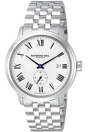 Raymond Weil Męski analogowy automatyczny zegarek z paskiem ze stali nierdzewnej 2238-ST-00659