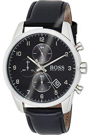 HUGO BOSS Męski analogowy zegarek kwarcowy ze skórzanym paskiem 1513782