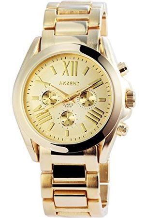 Akzent Unisex Dorośli analogowy zegarek kwarcowy bez bransoletki SS880400013