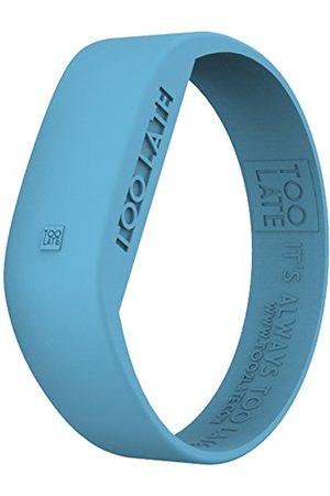too 2 late Zegarek na rękę unisex dla dorosłych Digital – analogowy wyświetlacz – bransoletka cyfrowa silikon niebieski i wyświetlacz LCD WTC LED AUR BLUE manszeta S