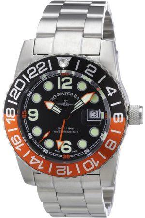Zeno Męski zegarek na rękę XL kwarcowy analogowy stal szlachetna 6349Q-GMT-a1-5M