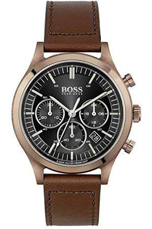 HUGO BOSS Męski analogowy zegarek kwarcowy ze skórzanym paskiem 1513800