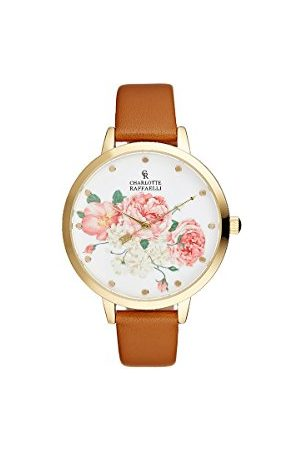 Charlotte Raffaelli Unisex dorosły analogowy zegarek kwarcowy z paskiem ze stali nierdzewnej CRF002