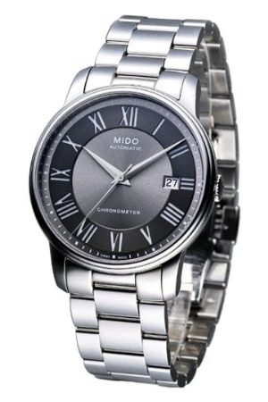 MIDO Męski zegarek na rękę XL Baroncelli analogowy automatyczny stal szlachetna M0104081106309