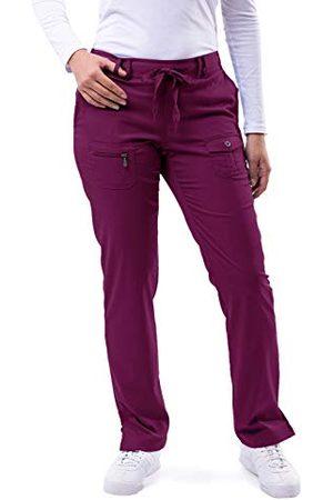ADAR UNIFORMS Damskie P4100WINXL medyczne spodnie szorujące, wino, X-Large-US
