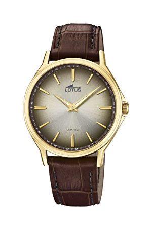 Lotus Męski analogowy klasyczny zegarek kwarcowy ze skórzanym paskiem 18517/2