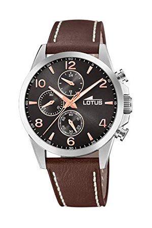 Lotus Męski chronograf kwarcowy zegarek ze skórzaną bransoletką 18630/3
