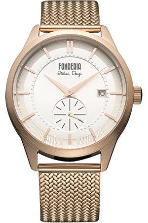 Fonderia Męski analogowy zegarek kwarcowy Smart Watch z bransoletką ze stali szlachetnej P-8R009US1