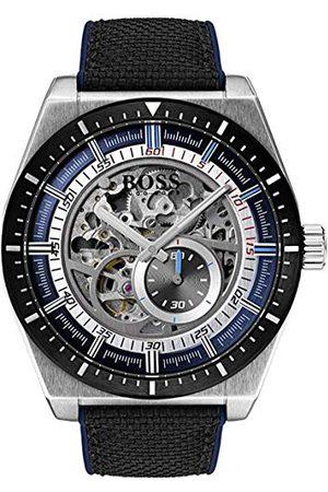 HUGO BOSS Męski szkielet automatyczny zegarek ze skórzanym paskiem 1513643