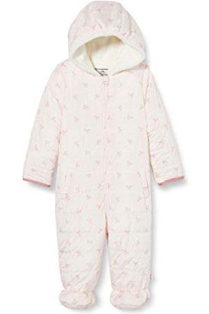 Sanetta Dziecięcy kombinezon outdoorowy dla dziewczynki, modny pikowany kombinezon śnieżny Fiftyseven w kolorze jasnoróżowym i delikatnej kokardki
