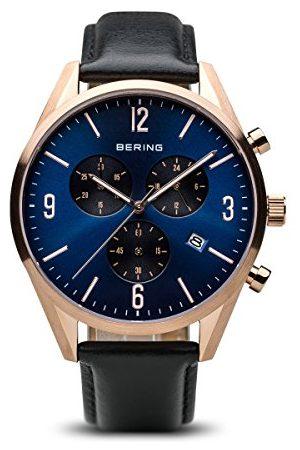 Bering Męski zegarek na rękę analogowy kwarcowy skóra 10542-567