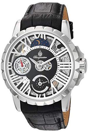Burgmeister Męski zegarek mechaniczny Skeleton ze skórzanym paskiem BM237-102