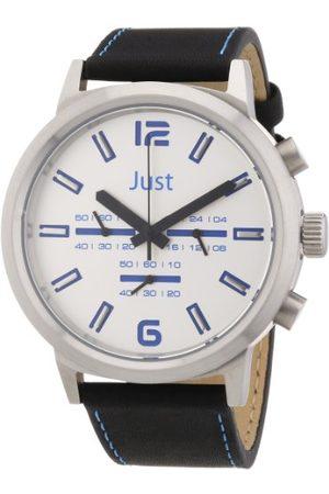 Just Watches Unisex Zegarek na rękę Analogowy Skóra 48-S3601-BL