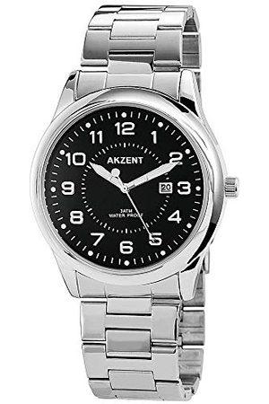 Akzent Unisex SS882100011 analogowy zegarek kwarcowy z bransoletką ze stali nierdzewnej