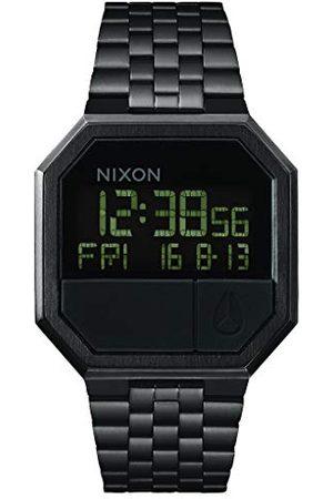 Nixon Cyfrowy zegarek kwarcowy unisex z bransoletką ze stali szlachetnej Stal nierdzewna one sie All Black