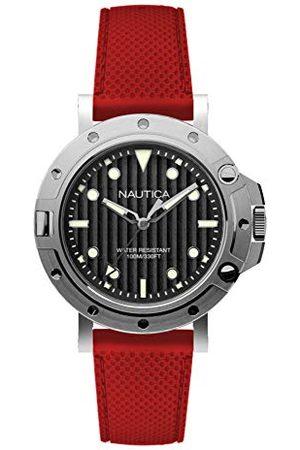 Nautica Męski analogowy zegarek kwarcowy z silikonowym paskiem NAD12549G