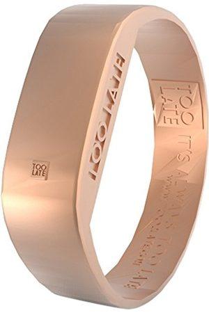 too 2 late Zegarek na rękę, unisex, dla dorosłych, 2 listwy, cyfrowy, pasek z silikonu, różowe złoto, cyferblat LED, różowy manszeta S