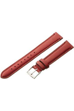 Morellato Bransoletka skórzana do zegarka męskiego LIGABUE czerwona 18 mm A01X3495006182CR16