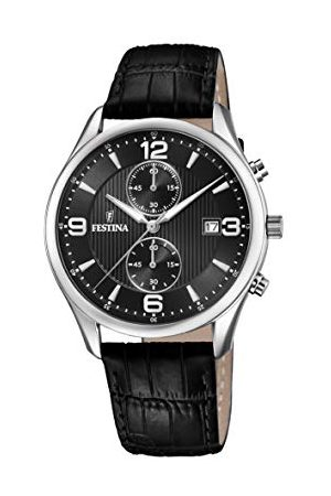 Festina Męski chronograf kwarcowy zegarek ze skórzanym paskiem F6855/8