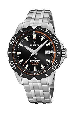 Festina F20461/3 analogowy zegarek kwarcowy dla dorosłych unisex zegarek kwarcowy z bransoletką ze stali szlachetnej