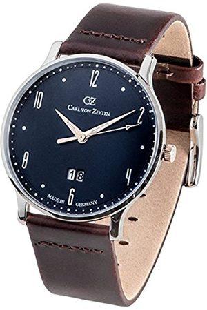 CARL VON ZEYTEN Męski analogowy zegarek kwarcowy ze skórzanym paskiem CVZ0019BL