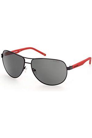 SKECHERS EYEWEAR Męskie okulary przeciwsłoneczne SE6112, Shiny Black/Smoke Polaryzed, 64