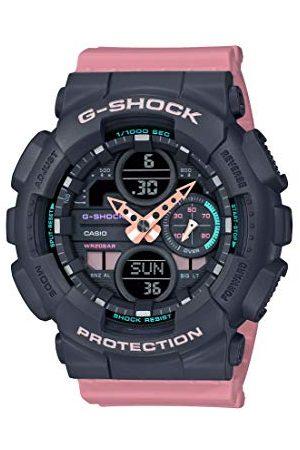 Casio Unisex dla dorosłych analogowy – cyfrowy zegarek kwarcowy z bransoletką z żywicy GMA-S140-4AER
