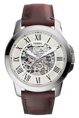 Fossil Męski analogowy zegarek automatyczny ze skórzanym paskiem ME3099