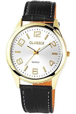 CLASSIX Męski analogowy zegarek kwarcowy ze skórzanym paskiem RP4780250009