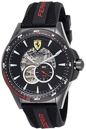 Scuderia Ferrari Męski szkielet automatyczny zegarek z silikonowym paskiem 0830600