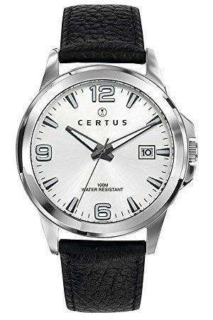 Certus Męski analogowy zegarek kwarcowy ze skórzanym paskiem 61112