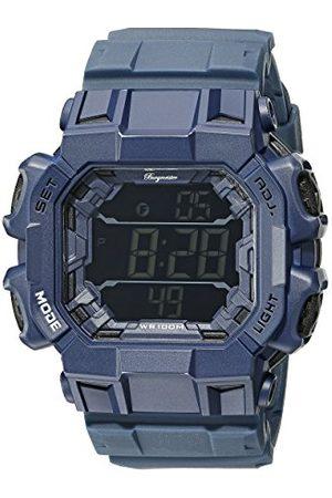 Burgmeister Męski zegarek kwarcowy z wielokolorowym wyświetlaczem cyfrowym i niebieską plastikową bransoletką BM804-023