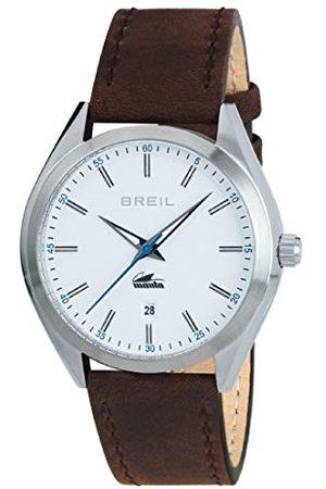 Breil Męski analogowy zegarek kwarcowy ze skórzanym paskiem TW1612