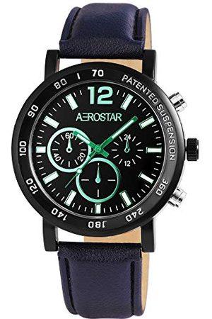 Aerostar Męski analogowy zegarek kwarcowy z imitacji skóry 21107110001