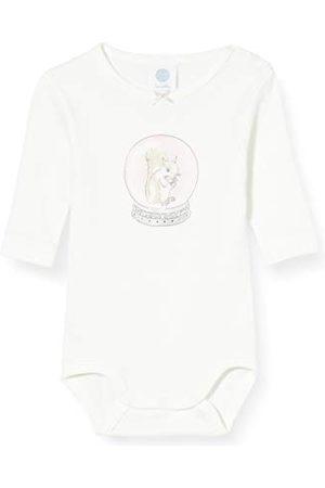 Sanetta Body dziewczęce z długim rękawem Broken White dla małych dzieci zestaw bielizny