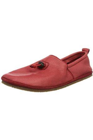 POLOLO Unisex niemowlęce stopka sztruksowa czerwona płaska slipper, 20 EU
