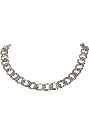 Urban classics Unisex Big Chain Necklace spinki do mankietów, srebrne, jeden rozmiar