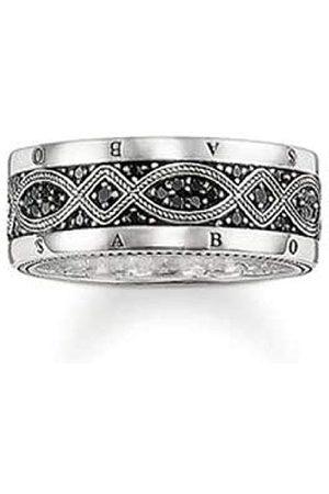 Thomas Sabo Męski pierścionek srebrny oksydowany cyrkonia czarny rozm. 56 (17.8) - TR2006-051-11-56