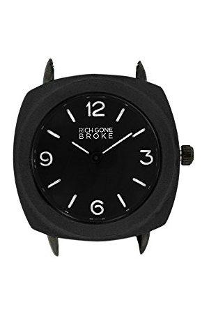 Rich Gone Broke Unisex-dorosły analogowy klasyczny zegarek kwarcowy z paskiem ze stali nierdzewnej BCCASE