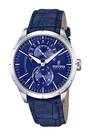 Festina Męski zegarek na rękę analogowy kwarcowy skóra F16573-7