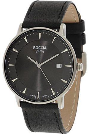 Boccia 3607-01 cyfrowy zegarek kwarcowy ze skórzanym paskiem