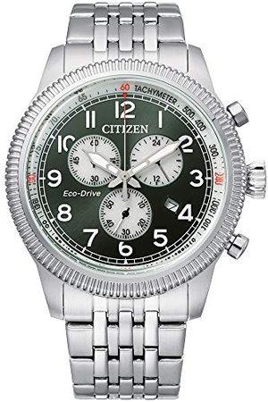 Citizen Męski analogowy zegarek Eco-Drive z bransoletką ze stali szlachetnej AT2460-89X