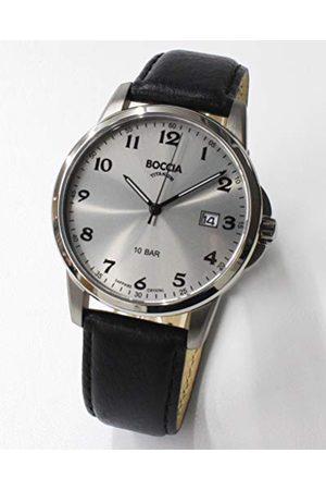 Boccia Męski analogowy zegarek kwarcowy ze skórzanym paskiem 3633-03
