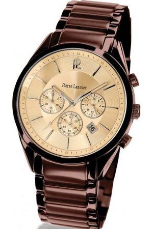 Pierre Lannier Męski zegarek na rękę kwarcowy brązowy 279C449